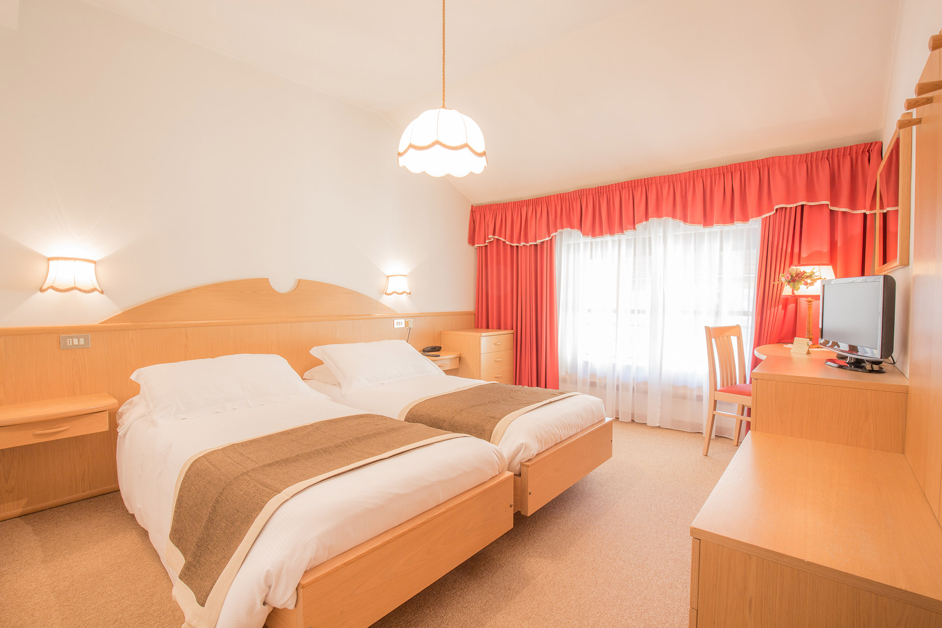 Camera doppia con letti singoli | Hotel Villa Trieste